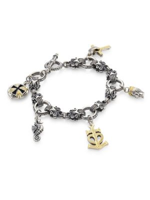 Konstantino Gaia Sterling Silver Charm Bracelet