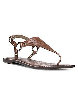 7c215dd91 Gigi Printed Sandals.  70.00. Sam Edelman - Greta Harness Ring Leather  Thong Sandals