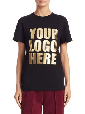 Your Logo Here Tee by Marc Jacobs