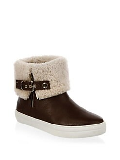 Burberry - Skillman Shearling-Lined Leather Booties