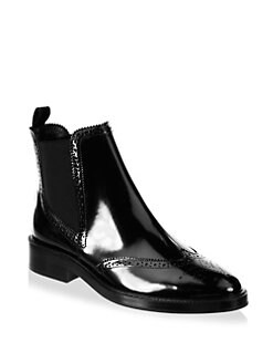Burberry - Bactonul Leather Chelsea Booties