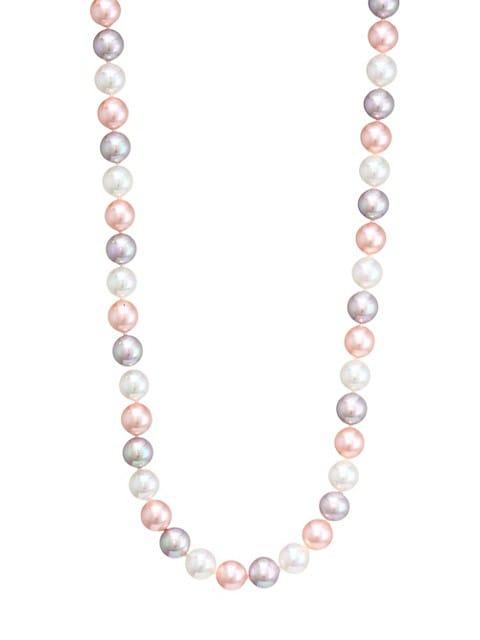 Tri-Tone Faux Pearl Necklace