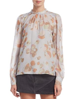 Silk Floral-Print Blouse by Marc Jacobs