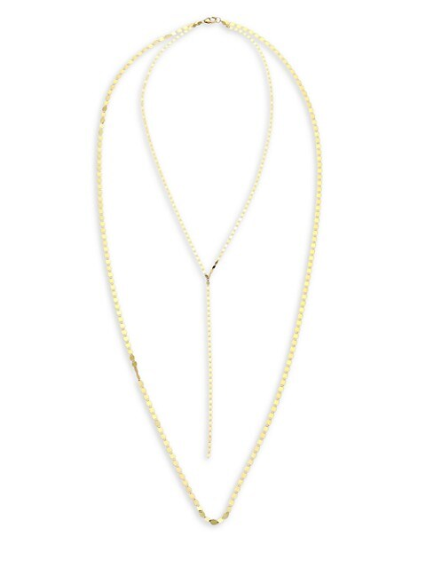Lana Jewelry 14k Gold Nude Petite Long Necklace in
