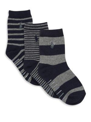 Boys Striped Trouser Socks3Pack