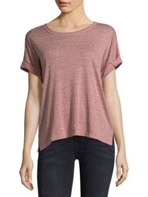 Rolled-Sleeve Cotton Tee by Current/Elliott