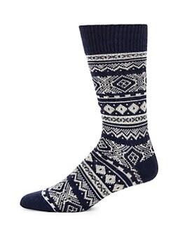 d5af9a5aa Barbour. Fair Isle Patterned Socks