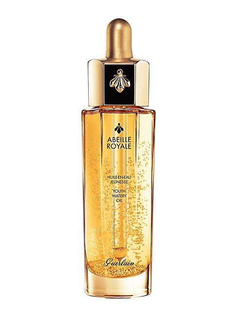 Image of Abeille Royale Youth Watery Oil offers the skin all the power of Guerlain-exclusive ingredients: Ouessant Black Bee Honey and exclusive Royal Jelly. This revolutionary formula combines the power of a serum, the richness of an oil and the freshness of a lo