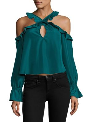 Kinley Ruffled Crop Top by LIKELY