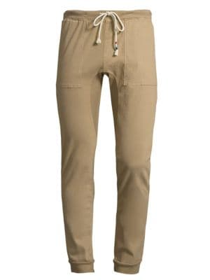 SOL ANGELES Essential Cotton Jogger Pants in Khaki