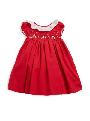 Babys Viyella Smocked Dress