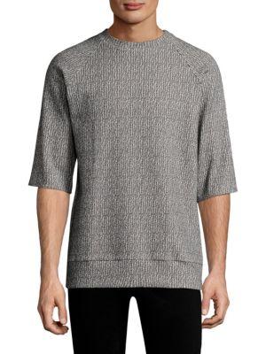 TWENTY TEES Textured Knit Top in Scour