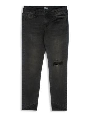 Girls Angled Skinny Dark Jeans