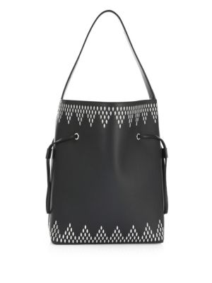 Stud Point Leather Bucket Bag by Alaïa