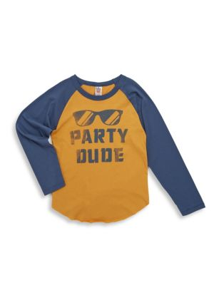 Toddler  Little Boys Party Dude Cotton Tee