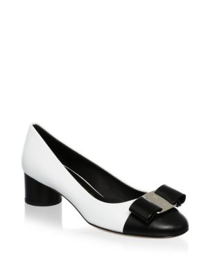 Slip On Leather Pumps by Salvatore Ferragamo