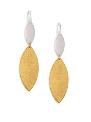 STEPHANIE KANTIS Breeze Double-Drop Earrings in Gold Silver