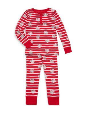 Toddlers Little Girls  Girls TwoPiece Cotton Snow Flake Pajama Set