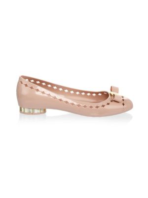 Jelly Cutout Vara Bow Flat, Bon Bon, Blush
