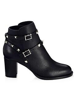 8f4257c4d Valentino Garavani. Rockstud Leather Ankle Boots