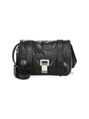 Proenza Schouler Ps1 Mini Leather Zip Around Crossbody Bag
