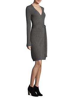 f5bcd5a30a6e QUICK VIEW. Diane von Furstenberg. Knitted Wrap Cashmere Dress