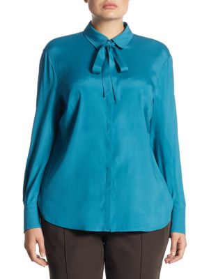 Tourmaline Lace Blouse by Basler, Plus Size