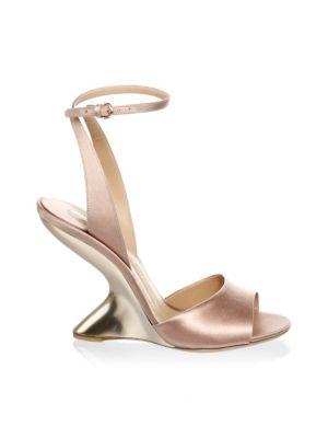 Arsina Satin Ankle Strap Sandals by Salvatore Ferragamo