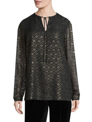 Eli Long Sleeve Blouse by Lafayette 148 New York