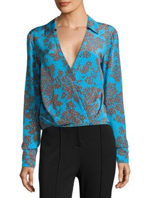 Silk Crossover Blouse by Diane von Furstenberg