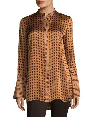 Desra Silk Blouse by Lafayette 148 New York