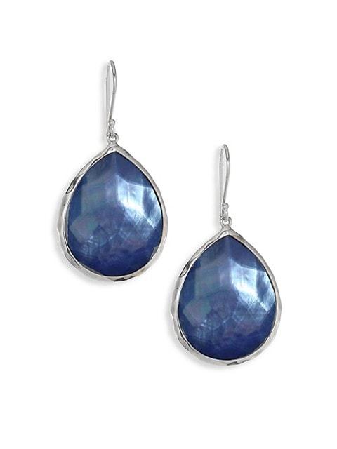 Rock Candy Large Sterling Silver & Triplet Teardrop Earrings