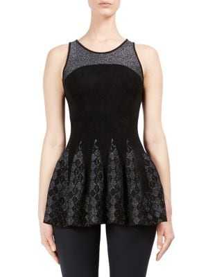 Leiston Peplum Top by Roland Mouret