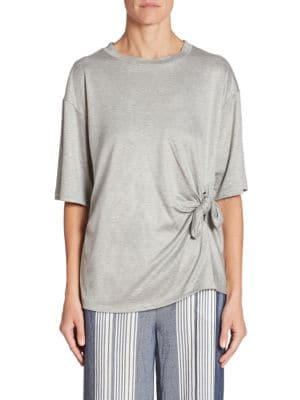 Asymmetric Knot Tee by Victoria, Victoria Beckham