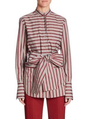 Striped Tie Top by Victoria, Victoria Beckham