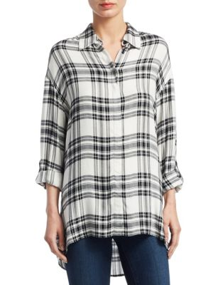 Mellie Oversized Casual Button-Down Shirt by Alice + Olivia