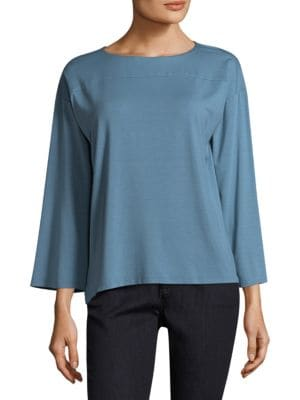 Basic Box Jersey Top by Eileen Fisher