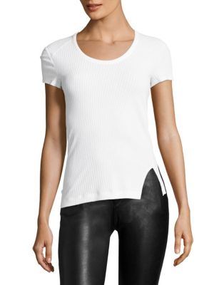Cotton Scoopneck Shirt by Helmut Lang