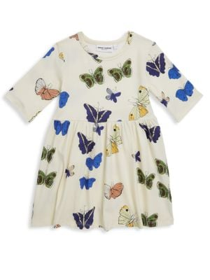 Babys Toddlers Little Girls  Girls Butterflies ShortSleeve Dress