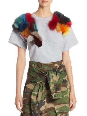 Rainbow Fur Sweatshirt by Harvey Faircloth