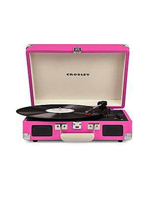 Image of Crosley's most popular turntable, the Cruiser, just got an upgrade. Introducing the Crosley Cruiser Deluxe! This record player still rocks its charming suitcase-style shell, but now you can dial in the record's speed with advanced pitch control adjustment