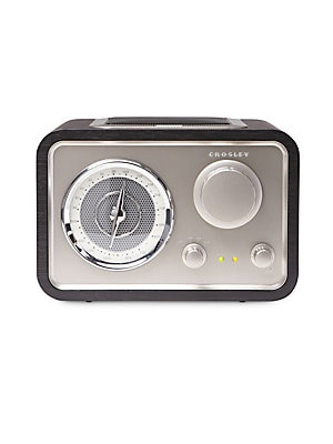 Image of Combine slick mid-century aesthetic with audiophile sound in the Solo Radio. Using clean AroundSound technology, the Solo eliminates dead air and fills the room with warm sound. Portable audio ready-simply plug in your portable audio device or mp3 player