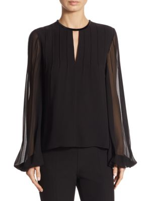 Dante Pintuck Silk Blouse by Elizabeth and James