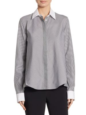 Striped Trapeze Top by Adam Lippes