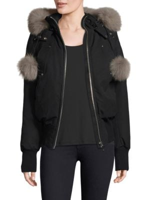 Moose Knuckles Fox Fur-Trimmed Jacket