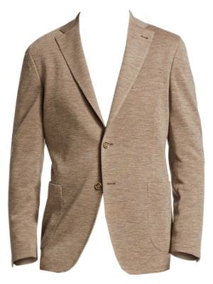 Collection Classic-Fit Knit Wool Sportcoat, Taupe