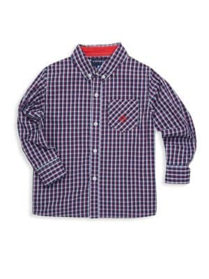 Toddlers Little Boys  Boys Plaid Cotton Collared Shirt