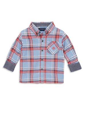 Toddlers Little Boys  Boys Flannel ButtonDown Shirt