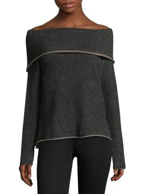 Long-Sleeve Off-the-Shoulder Top by Eileen Fisher
