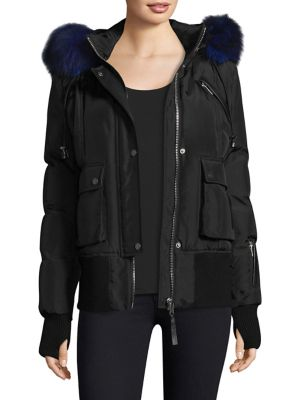 b2d05d422 Nicole Benisti - Fordham Fox & Rabbit Fur Lined Bomber Jacket - saks.com
